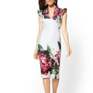 NWT New York & Co floral sheath dress Size…